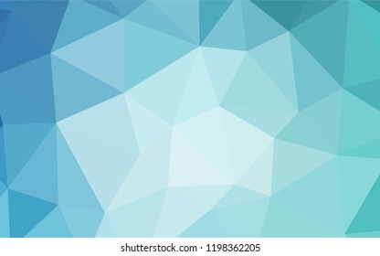 Light BLUE vector triangle mosaic texture. Shining colorful illustration with triangles. Best triangular design for your business.