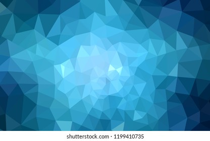 Light BLUE vector triangle mosaic cover. A completely new color illustration in a polygonal style. Best triangular design for your business.