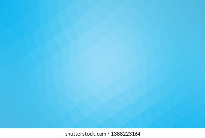 Light BLUE vector triangle mosaic texture. Colorful illustration in Origami style with gradient.  Polygonal design for your web site.