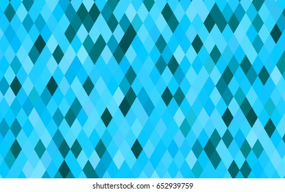 Light BLUE vector triangle mosaic pattern. An elegant bright illustration with gradient. The completely new template can be used for your brand book.