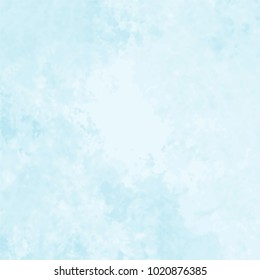 light blue watercolor marble stone structure pattern with spotted color areas, vector illustration
