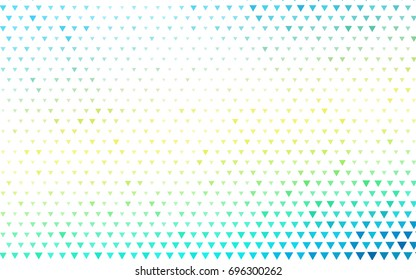 Light Blue, Yellow vector abstract colorful background, which consist of triangles. Pattern with colored triangles on white background.
