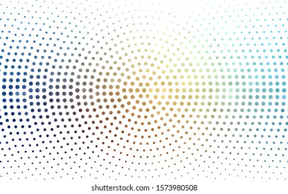Light Blue, Yellow vector  background with bubbles. Blurred bubbles on abstract background with colorful gradient. Design for your business advert.