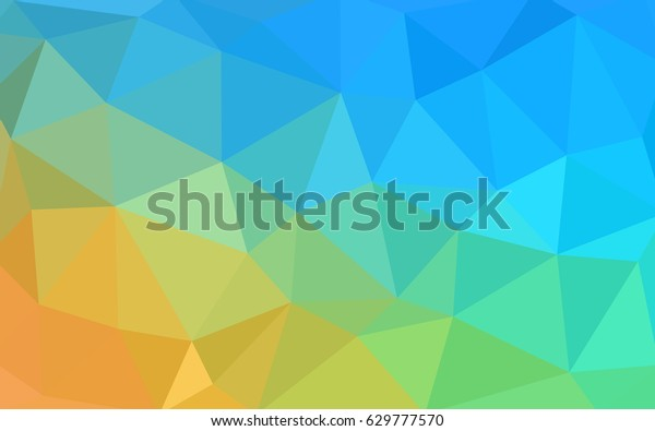 Light Blue Yellow Vector Blurry Triangle Stock Vector