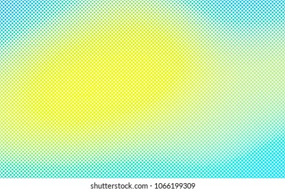 Light Blue, Yellow vector  cover with spots. Glitter abstract illustration with blurred drops of rain. The pattern can be used for aqua ad, booklets.