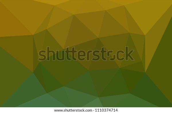 Light Blue, Yellow vector gradient triangles template. Shining polygonal illustration, which consist of triangles. Triangular pattern for your design.