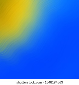 Light Blue, Yellow vector layout with wry lines. Bright illustration with gradient circular arcs. Smart design for your promotions.