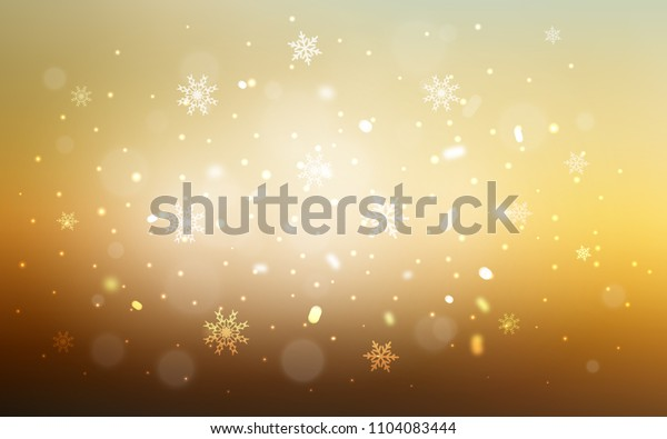 Light Blue, Yellow vector layout with bright snowflakes. Shining colored illustration with snow in christmas style. The pattern can be used for year new  websites.