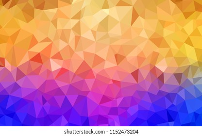Light Blue, Yellow vector low poly texture. Elegant bright polygonal illustration with gradient. New template for your brand book.
