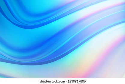 Light Blue, Yellow vector pattern with lines, ovals. Brand new colored illustration in marble style with gradient. A completely new template for your business design.