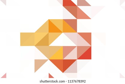 Light Blue, Yellow vector polygon abstract layout. A sample with polygonal shapes. Best triangular design for your business.