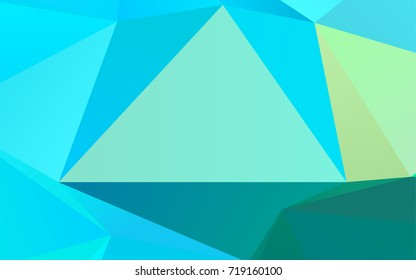 Light Blue, Yellow vector polygonal pattern. Glitter abstract illustration with an elegant design. A new texture for your design.