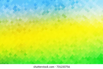 Light Blue, Yellow vector shining cranked template. Colorful abstract illustration with gradient crooked lines. Brand-new style for your business design.