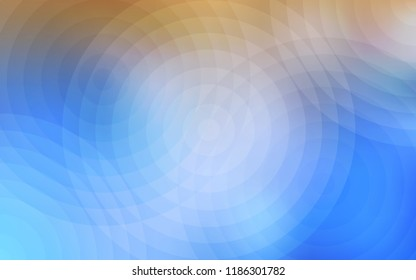 Light Blue, Yellow vector template with circles. Blurred decorative design in abstract style with bubbles. Pattern can be used as texture of wallpapers.