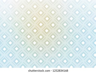 Light Blue, Yellow vector template with sticks, squares. Shining colorful illustration with lines, rectangles. Backdrop for TV commercials.