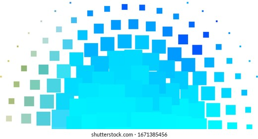 Light Blue, Yellow vector texture in rectangular style. Colorful illustration with gradient rectangles and squares. Best design for your ad, poster, banner.