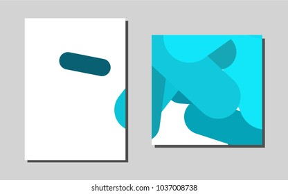 Light BLUEvector pattern for posters. Modern abstract design concept with colorful gradient. Pattern for beautiful business cards, folders.