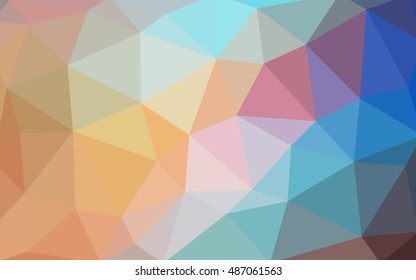 Light blue-yellow polygonal illustration, which consist of triangles. Triangular design for your business. Geometric background in Origami style with gradient.