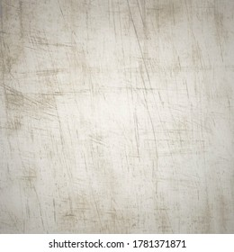 Light bown, bage and grey, gray scratched, dirty, grunge, rough paper, wood, metal, plastic, glass, rubbish, material, surface. Technical vector illustration, backdrop, background, wallpaper, texture.