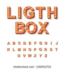 Light Box style light bulb alphabet