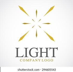 Light bright gold shine line elegant logo element design vector shape icon symbol business template company abstract