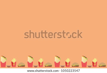 light brown backdrop bottom border fast stock vector royalty free