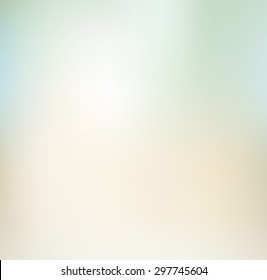 Light brown and green gradient abstract blur background, template.