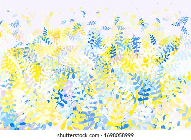 Light Brown vector doodle background with leaves. Colorful abstract illustration with leaves in doodle style. Colorful pattern for kid's books.