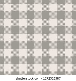 Light brown vichy / gingham textile pattern for blanket design. Seamless tile. Pixel texture.