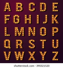 Light Bulb Alphabets Set