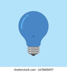 light bulb blue color art work