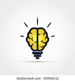 Light bulb brain icon