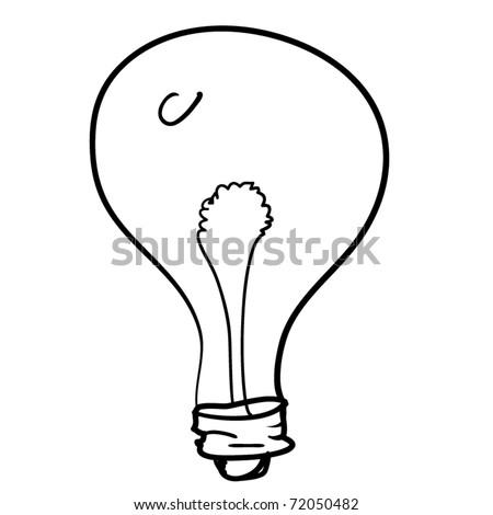 Light Bulb Cartoon Childrens Sketch Stock Vector Royalty Free