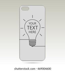 light bulb case for phone vector illustration.
