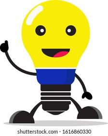light bulb character vector illustration design