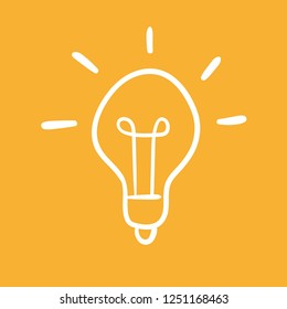 Light bulb doodle, idea concept