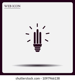 Light bulb energy-saving, vector icon.