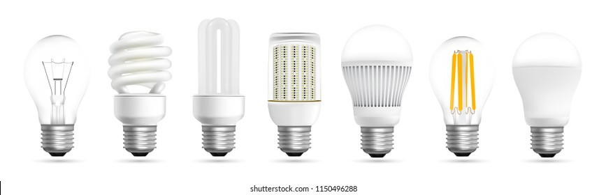 Light bulb evolution realistic effect in vector format
