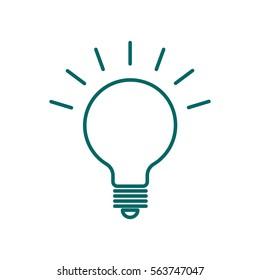 light bulb flat icon .
