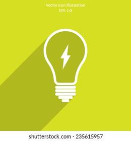 Light bulb flat webi con. Eps 10.