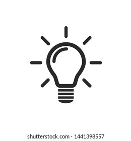 The light bulb is full of ideas And creative thinking, analytical thinking for processing. Light bulb icon vector. ideas symbol illustration.