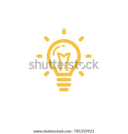Light Bulb Icon Bright Idea