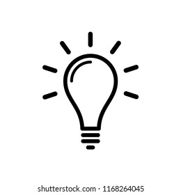 Light bulb icon creative idea logo template