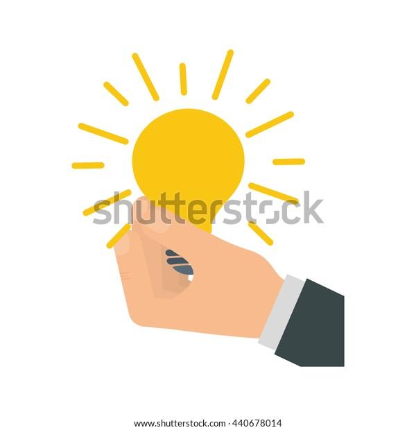 Light bulb icon. Energy  design. vector graphic