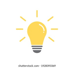Light bulb icon. Energy and thinking symbol. Creative idea and inspiration concept. Vector illustration