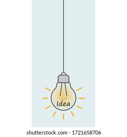 Light bulb icon, idea design concept. Vector illustration.