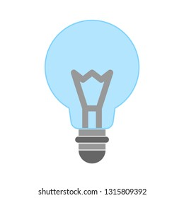 light bulb icon- idea isolated , idea illustration - Vector idea concept. electricity sign symbol