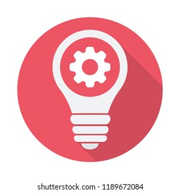 Light Bulb icon, Idea, solution, thinking icon with settings sign. Light Bulb icon and customize, setup, manage, process symbol. Vector