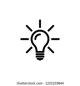 light bulb icon, ideas icons vector on white background