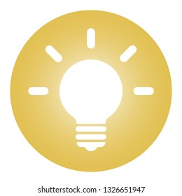 Light bulb icon illustration.